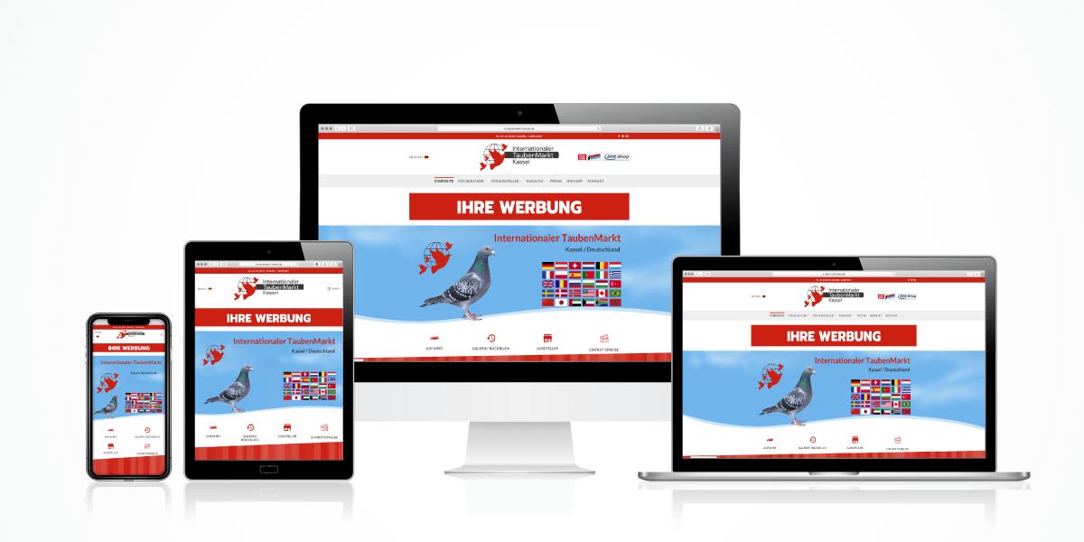 Internationaler TaubenMarkt Online-Werbung